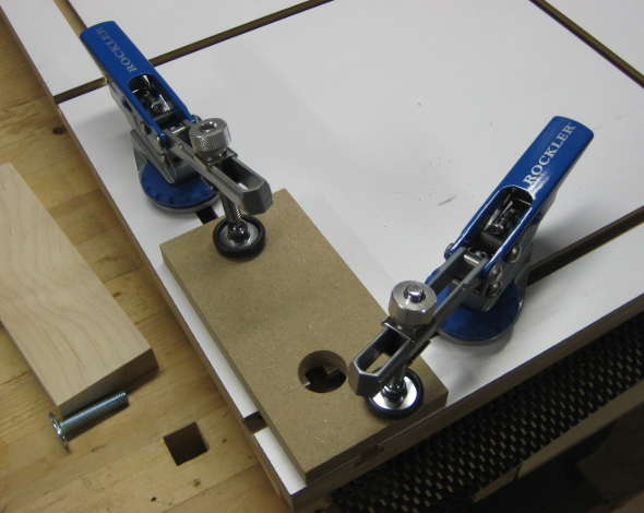 Jig for drilling holes at the intersections