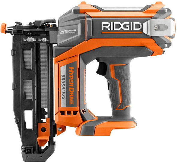 Ridgid Cordless Brushless Nailers with HyperDrive Air-Like Power