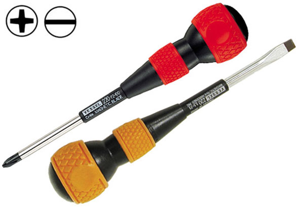 Vessel balldriver screwdrivers