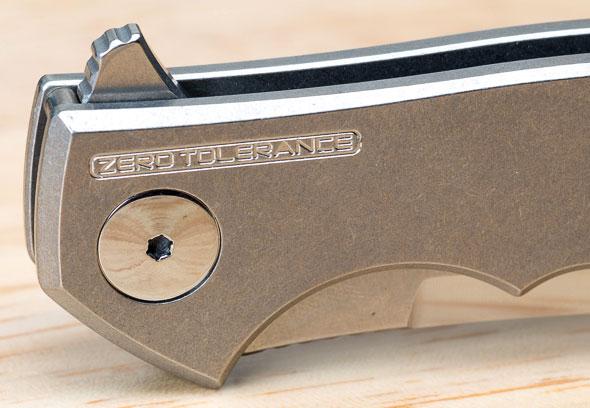 Zero Tolerance 0450 Knife Polished Hardware