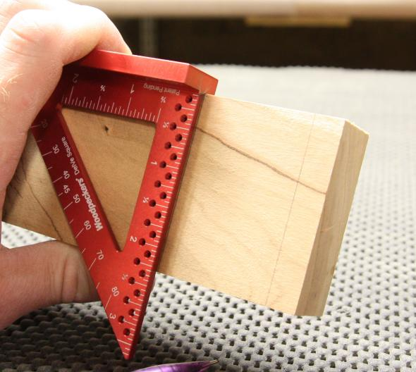 Copying the mortise dimsnsion to the face of the board