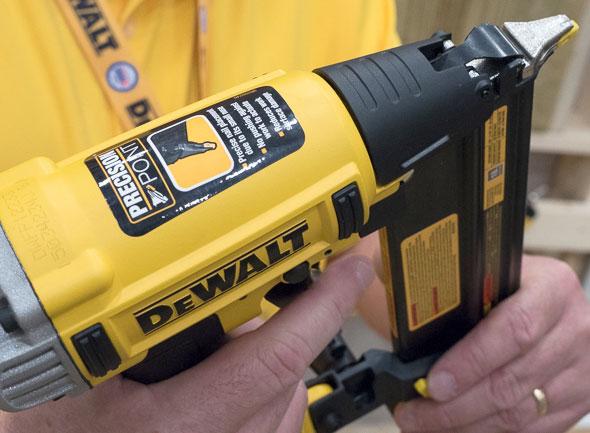 dewalt air nailer with precision point tip
