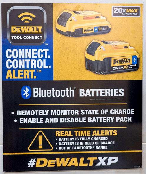 Dewalt Bluetooth Batteries Poster