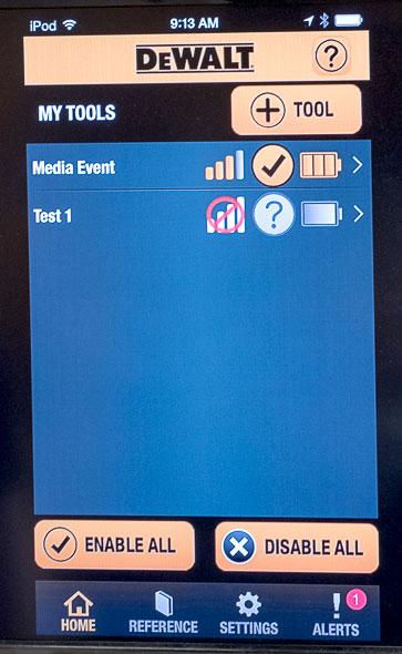 Dewalt Connect Bluetooth Battery App