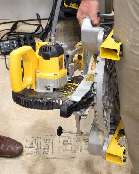 Dewalt Cordless Miter Saw Side Carrying