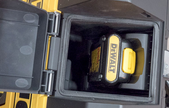Dewalt ToughSystem Bluetooth Radio Battery Compartment