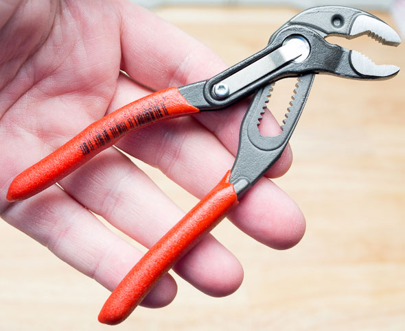 Knipex Mini Cobra Pliers Hand Scale