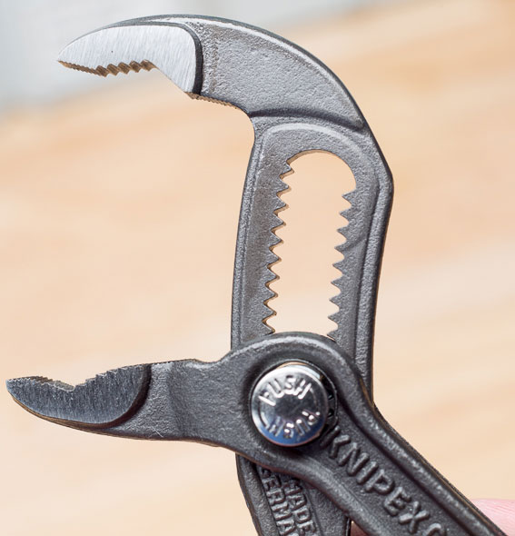 Knipex Mini Cobra Pliers Jaws Wide Open