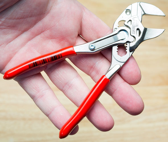 Knipex Mini Pliers Wrench Hand Scale