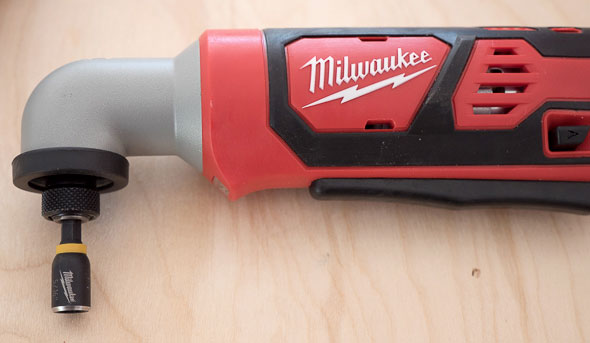 Milwaukee 2467 M12 Right Angle Impact Driver Chuck Closeup