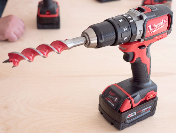 Milwaukee 2701 M18 Compact Brushless Drill with Auger Bit