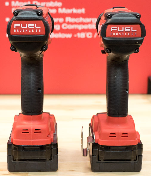 Milwaukee 2704 M18 Fuel Hammer Drill vs 2604 Grip Comparison