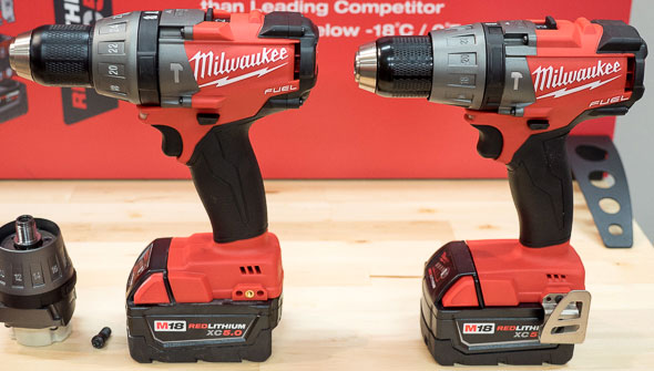 Milwaukee 2704 M18 Fuel Hammer Drill vs Older Model