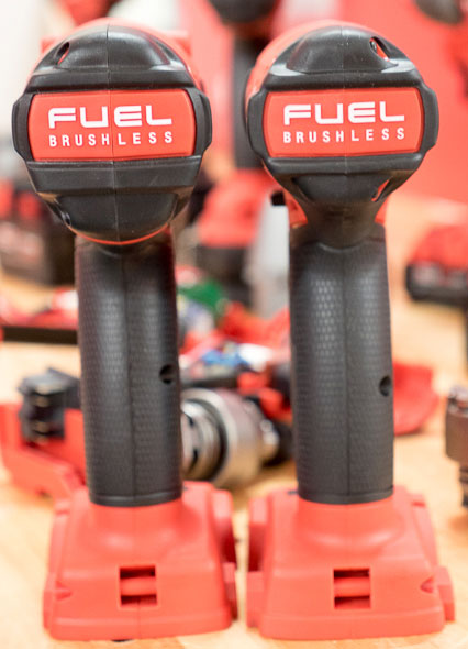 Milwaukee 2753 M18 Fuel Impact Driver Grip Comparison