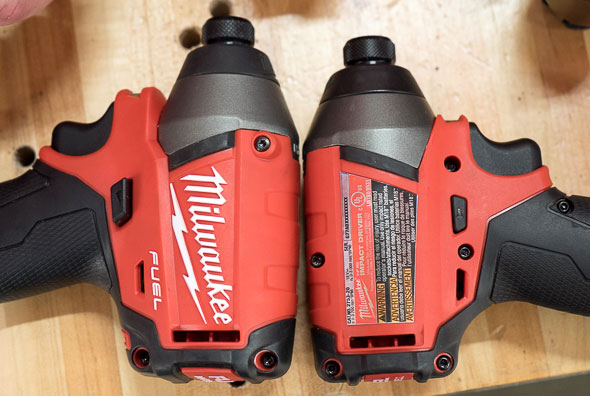 Milwaukee 2753 M18 Fuel Impact Driver Vs 2653 Length Comparison