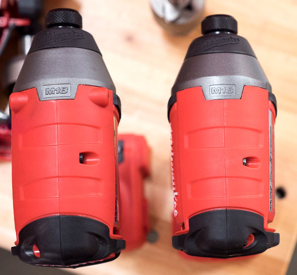 Milwaukee 2753 M18 Fuel Impact Driver vs 2653 Size Comparison