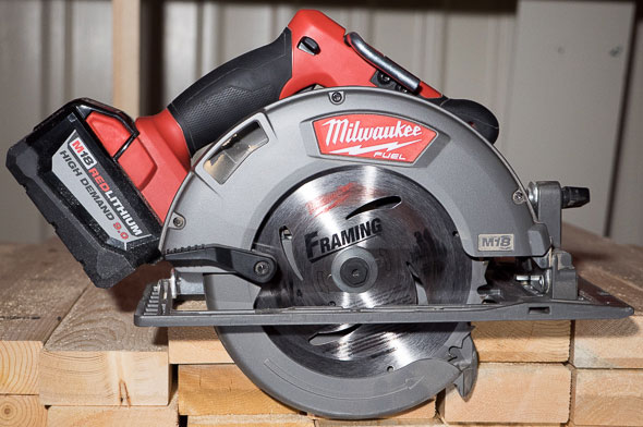 Milwaukee M18 Circular Saw with High Demand Battery