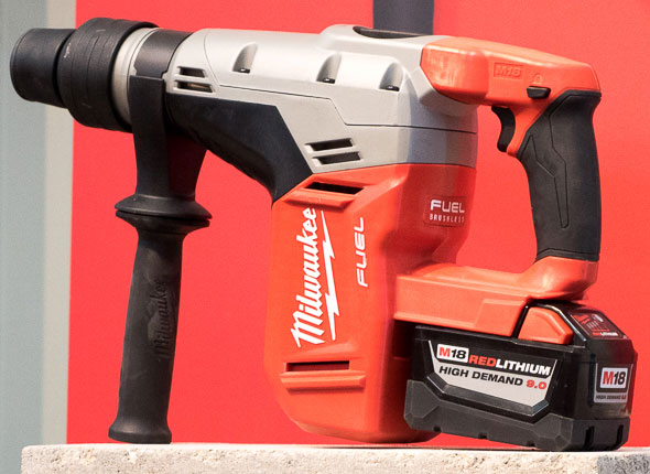 Milwaukee M18 Fuel Brushless SDS Max Rotary Hammer with High Demand Battery Pack