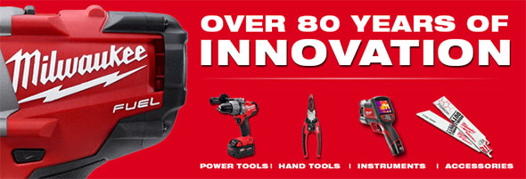 Milwaukee Tool 80 Years of Innovation Logo