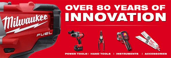 Milwaukee Tool 80 Years of Innovation Logo
