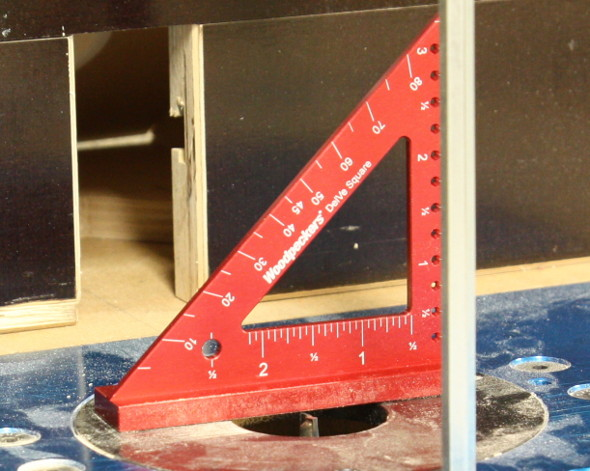 Using DelVe Square to zero out router table