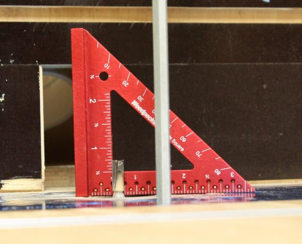 Using the inside scale to set cutter height