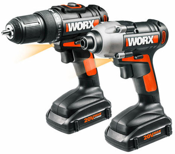 Worx 20V Max Drill and Impact Driver Combo WX916L
