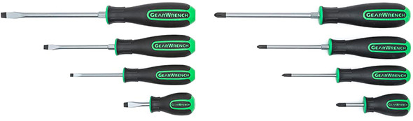 Gearwrench Green Handled Screwdrivers