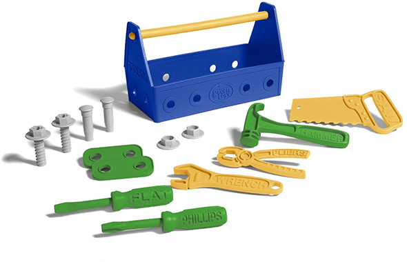 Green Toys Tool Set Blue Green Yellow