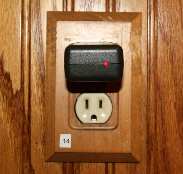 Labeled outlet
