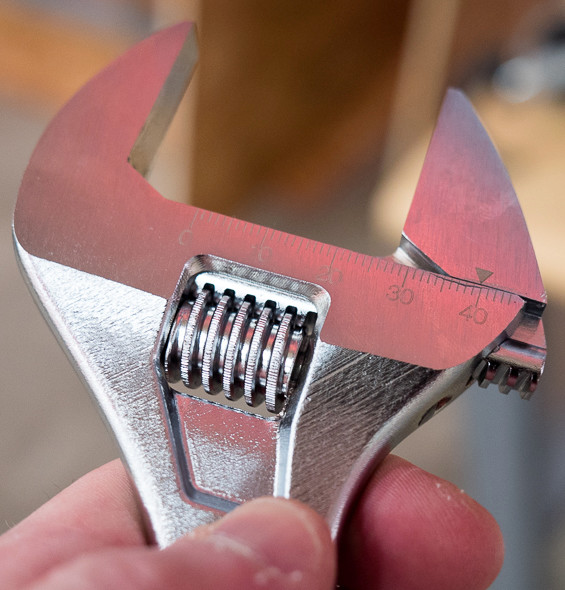 'Milwaukee Adjustable Wrench Thumbwheel' from the web at 'http://toolguyd.com/blog/wp-content/uploads/2015/07/Milwaukee-Adjustable-Wrench-Thumbwheel.jpg'