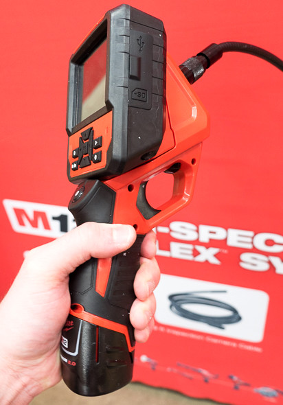 Milwaukee M-Spector Flex Inspection Camera Side View
