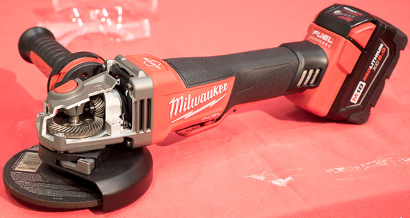 Milwaukee M18 Fuel Braking Grinder Gearing
