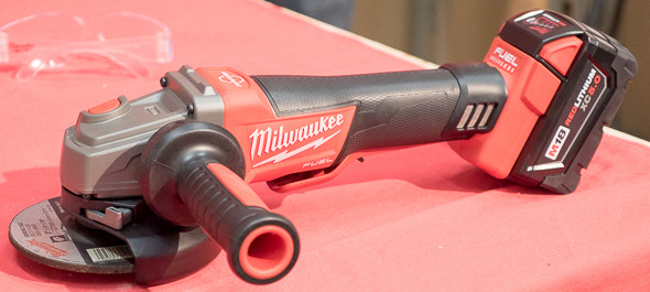 Milwaukee M18 Fuel Braking Grinder NPS15 Testing