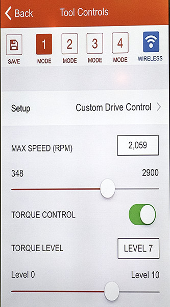 Milwaukee One Key Speed and Torque Control