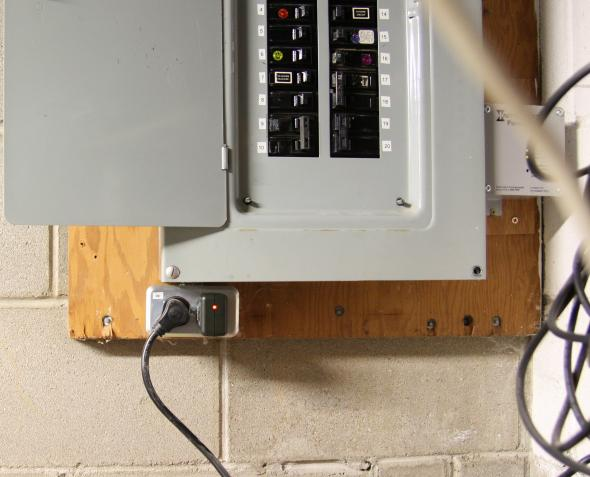 Outlet On The Service Panel on Electrical Outlet