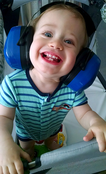 ToolGuyd Junior Hearing Protection Ear Muffs Happy Face