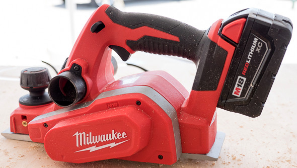 Milwaukee 2623 M18 Planer Propped Up