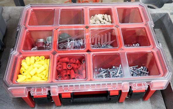 Milwaukee Organizer Tool Box Filled