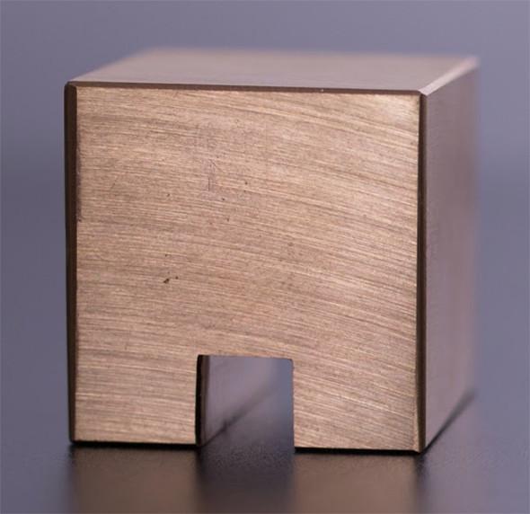 Stacks Cube in Brass