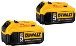 Dewalt 20V Max 5Ah Battery 2-Pack
