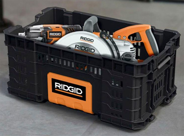 Ridgid Pro Tool Box Crate with Tools