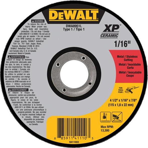 New Dewalt Angle Grinder Xp Ceramic Cutting Wheels And