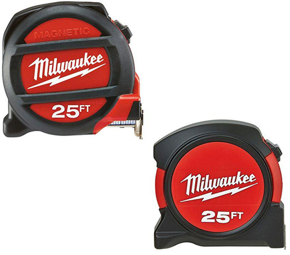 Milwaukee Tape Measure Promo 25-Foot Magnetic and Contractor