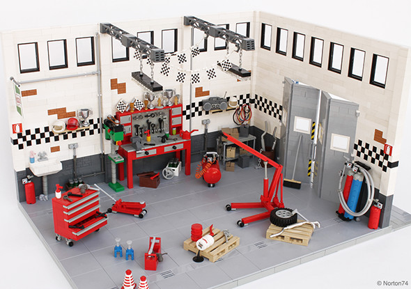 Check Out These Incredibly Detailed Lego Auto Garage And