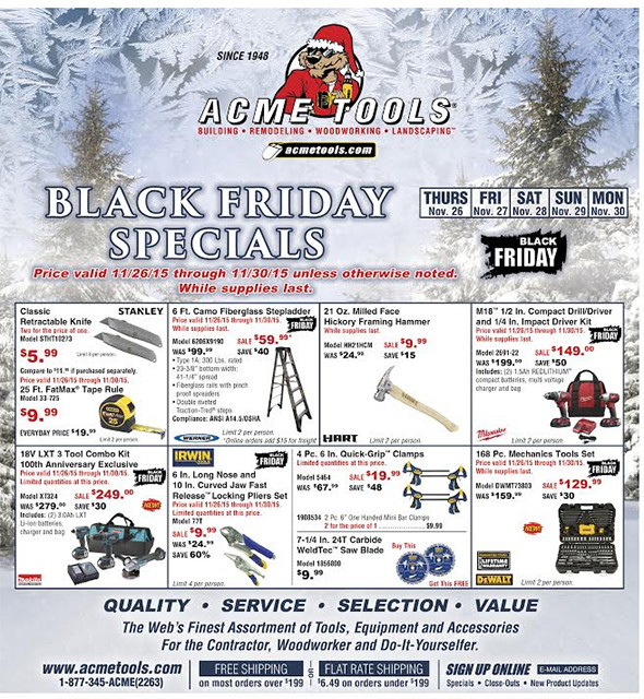 Acme Tools Black Friday 2015 Flyer Page 2
