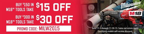Acme Tools Milwaukee Discount Black Friday 2015