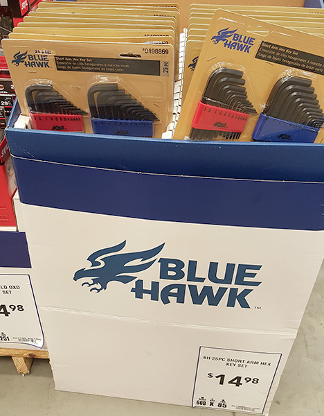 Blue Hawk Hex Keys Lowes Holiday 2015
