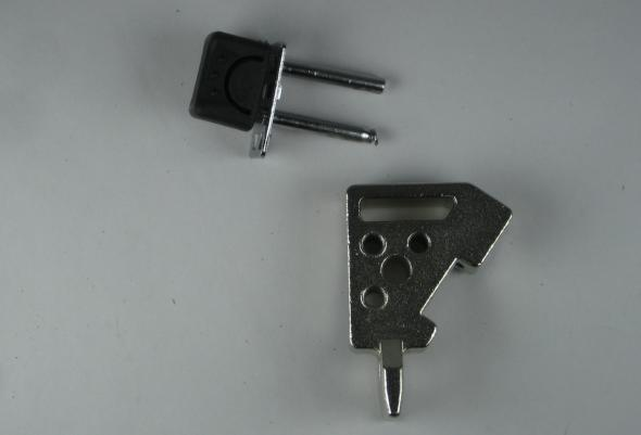 Broken part of jig