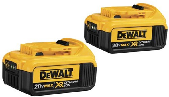 Dewalt 20V Max 4Ah Li-ion Two Pack